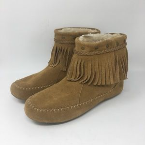 Lucky Brand Fur Lined Moccasins Size 10 New